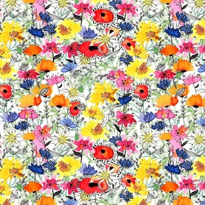 Watercolor Doodle Flower