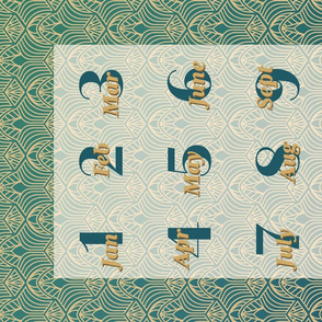 Roaring 20's calendar tea towel