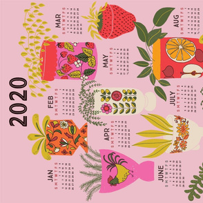 2020 teat towel calendar vintage