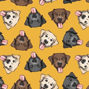 all the labs - cute happy labrador retriever dog breed - yellow - LAD19