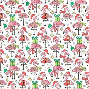 Christmas Holidays Flamingos Smaller Tiny 1,5 inch