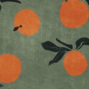 jumbo // mid-century clementines on green
