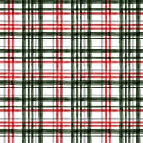 (extra small scale) Christmas Plaid - red, green, and grey - LAD19BS