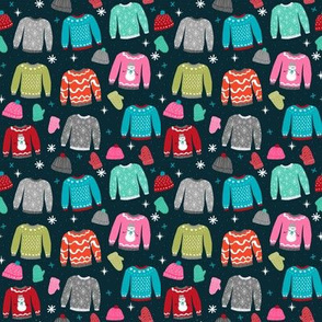SMALL - snow day sweaters winter fabric sweater design