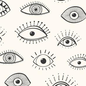 evil eye - cream (jumbo scale)