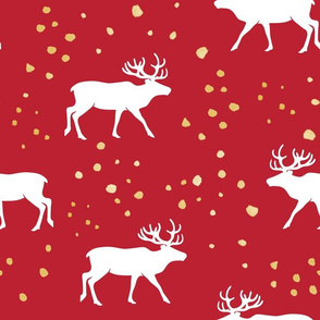 """(4"""" scale) reindeer - holiday red C19BS"""