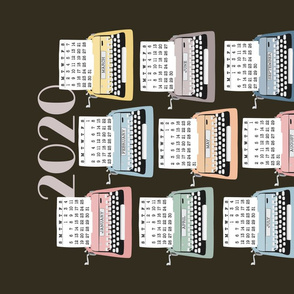 2020 Tea Towel Typewriter Calendar