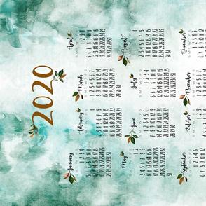 magnolia floral tea towel calendar