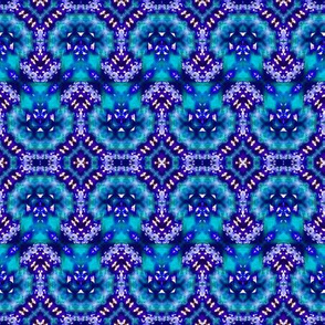 Starry Night Bubble Zigzag