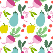 FOR THE LOVE OF VEGETABLES fabric-Recovered