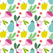 FOR THE LOVE OF VEGETABLES fabric 7""
