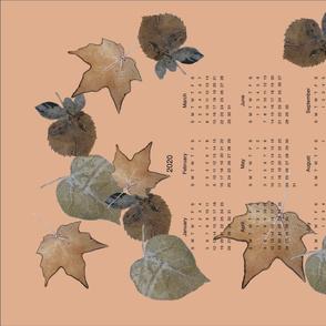 spoonflower challenge - leaf print calendar 2020 B