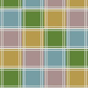 Four Color Blocks Diagonally Running