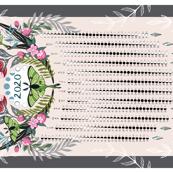 Boho Moon Phases Calendar 2020