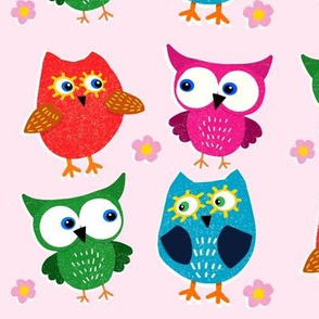 Give A Hoot on Pink