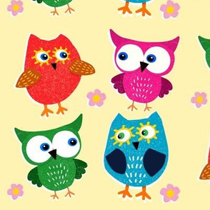 Give A Hoot on Yellow