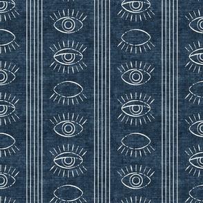 blink - eyes - stone blue woven - LAD19