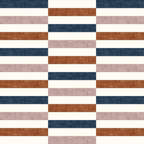 tiles - rectangles - multi blue, ginger, fading rose geometric - focus collection - LAD19