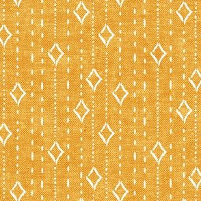 diamond stripe - bohemian diamonds - yellow woven - LAD19