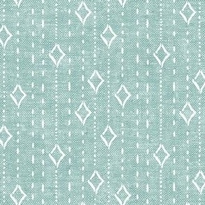 diamond stripe - bohemian diamonds - mint woven - LAD19