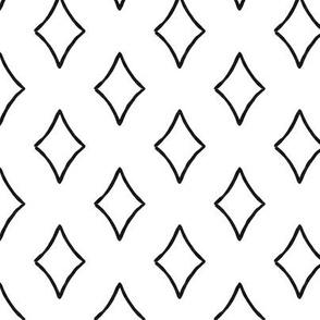 diamonds coordinate - black and white - focus - LAD19