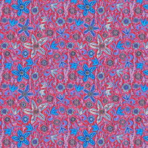 Matisse Linocut, Red and blue, medium