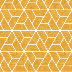 triangle geo - focus collection - woven yellow - LAD19