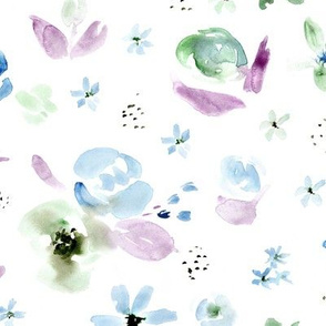 Freezing bloom • watercolor florals