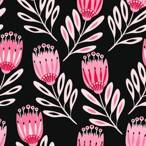Tulip Folk Floral Noir Large 17360-280