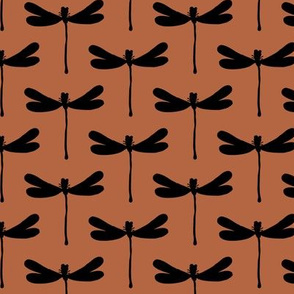 Minimal dragonfly abstract insects animal design trend fall winter copper rust