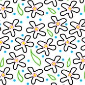 Mimi's Field of Flowers #1 - White
