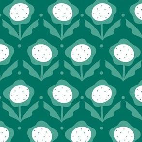 May Flower Retro Vibe - Green