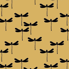 Minimal dragonfly abstract insects animal design trend fall winter honey yellow