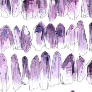 Watercolour Crystals - Amethyst - Larger