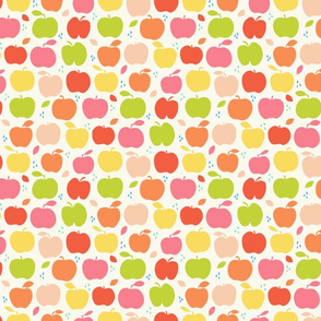 An apple a day medium scale in orange