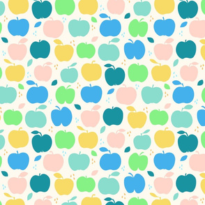 An apple a day large scale in blue