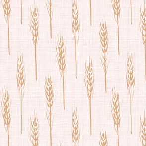wheat - Rose Gold linen