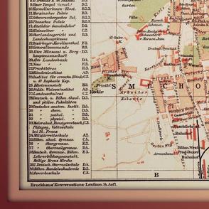 Prague map - antique, XL