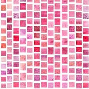 Watercolor Squares - Warm