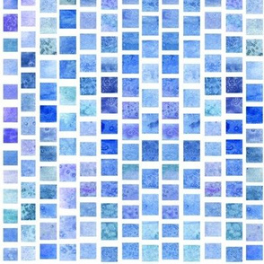 Watercolor Squares - Cool