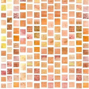 Watercolor Squares - Yellow Orange