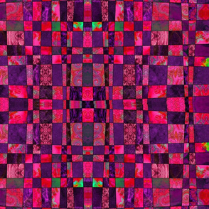 crazy checkerboard purple and red