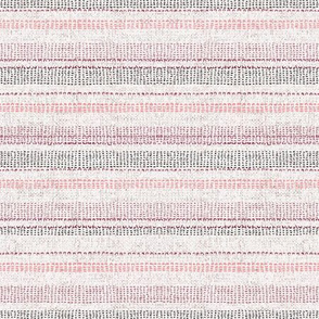 FRENCH LINEN WOVEN STRIPE BLUSH DOUBLE