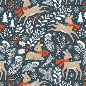 winter deer - stone grey, small