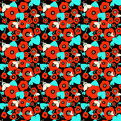 Rose_rouge-turquoise-noir