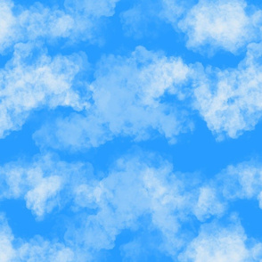 Blooming gardens clouds - light blue