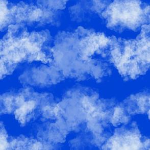 Blooming garden clouds- dark blue