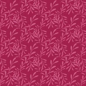 A Drift of Pink Leaves on Sweet Cherry Crimson - Small Scale