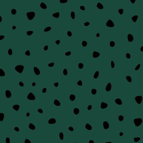 Little spots and speckles panther animal skin cheetah confetti abstract minimal dots winter forest green