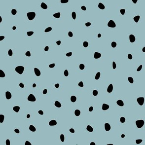 Little spots and speckles panther animal skin cheetah confetti abstract minimal dots winter cool stone blue